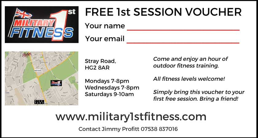 Free 1st Session Voucher Military 1st Fitness